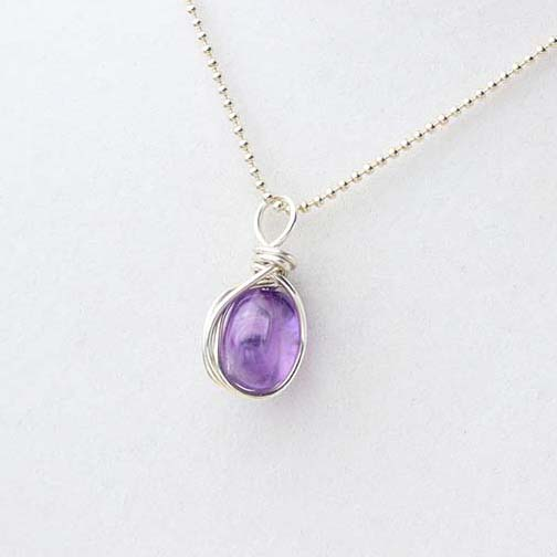 Amethyst Nugget Pendant for February