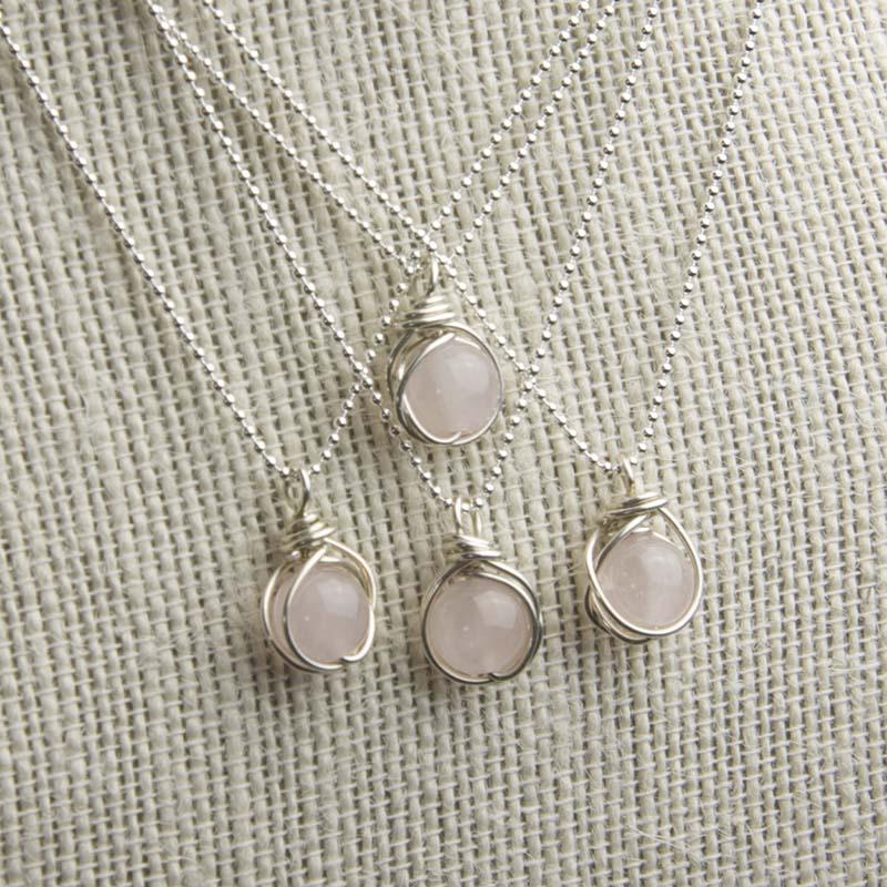 Rose quartz pendants